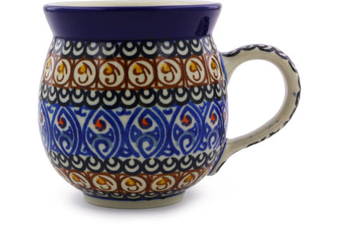 Polish Pottery 12 oz Bubble Mug Amber Shores UNIKAT