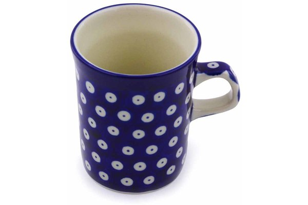 Polish Pottery 8 oz Mug Blue Eyes