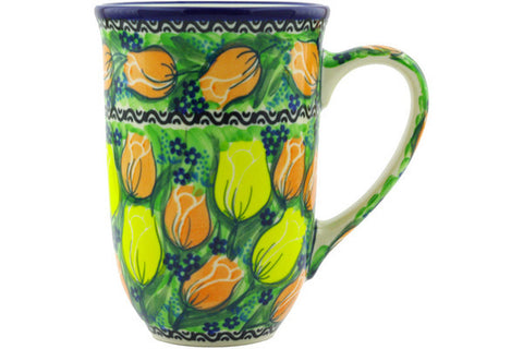 Polish Pottery 17 oz Mug Easter Rose UNIKAT
