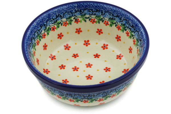 "Polish Pottery 6"" Bowl Little Flowers"