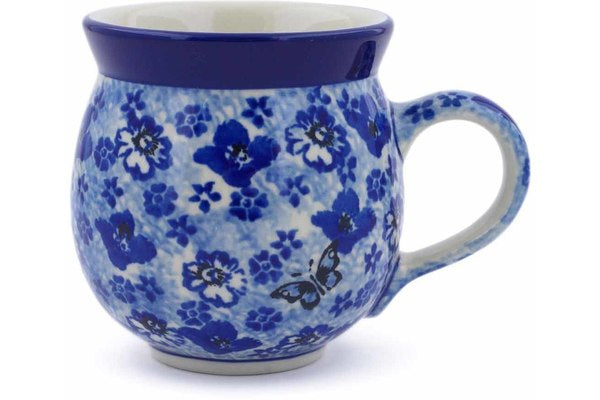 Polish Pottery 12 oz Bubble Mug True Blue Calico