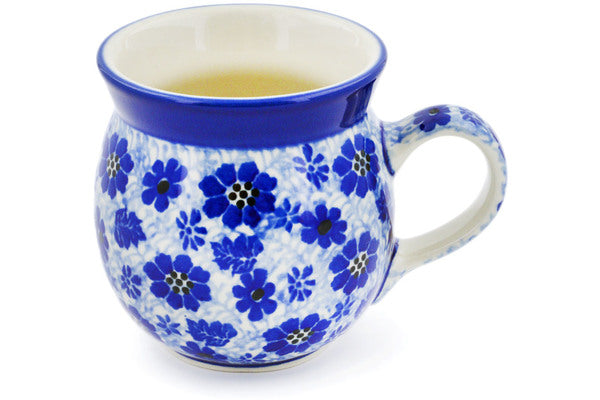 Polish Pottery 8 oz Bubble Mug Misty Dragonfly