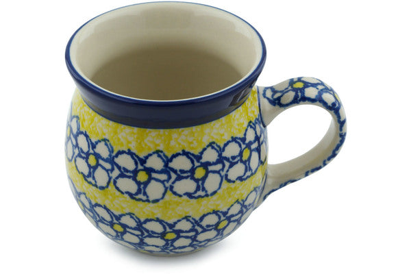 Polish Pottery 16 oz Bubble Mug Daisy Sunshine
