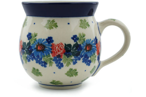 Polish Pottery 12 oz Bubble Mug Flower Crown