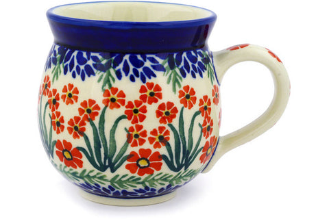 Polish Pottery 12 oz Bubble Mug April Showers