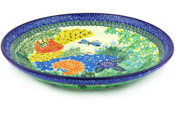 "Polish Pottery 11"" Bowl Garden Delight UNIKAT"