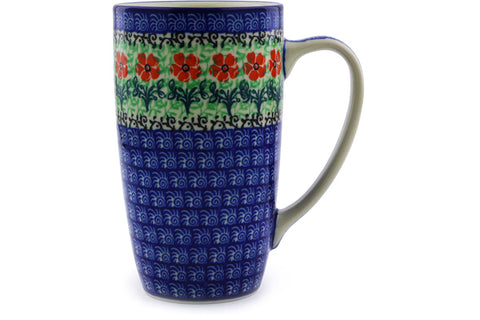 Polish Pottery Latte Mug Maraschino