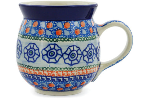 Polish Pottery 16 oz Bubble Mug Midnight Tango UNIKAT