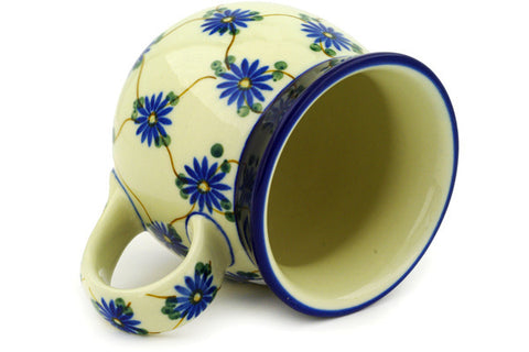Polish Pottery 16 oz Bubble Mug Aster Trellis