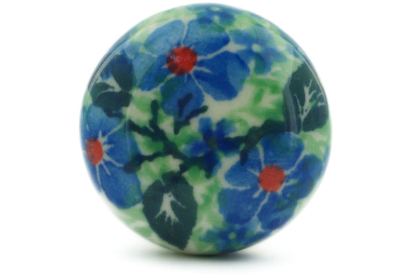 Polish Pottery Drawer knob 1-3/8 inch Polish Wreath