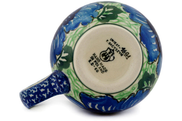 Polish Pottery 12 oz Bubble Mug Quilters Floral UNIKAT