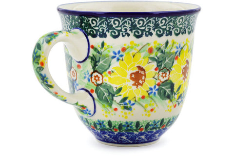 Polish Pottery 10 oz Mug UNIKAT
