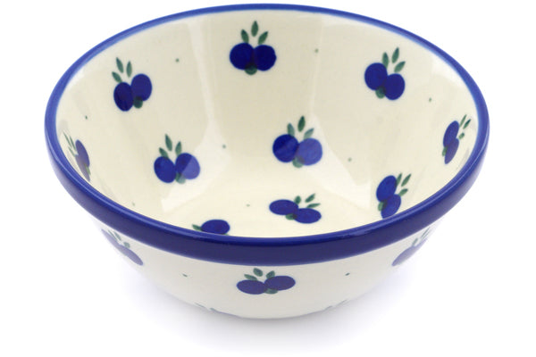 "Polish Pottery 5"" Bowl Wild Blueberry"
