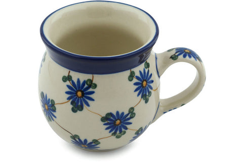 Polish Pottery 8 oz Bubble Mug Aster Trellis