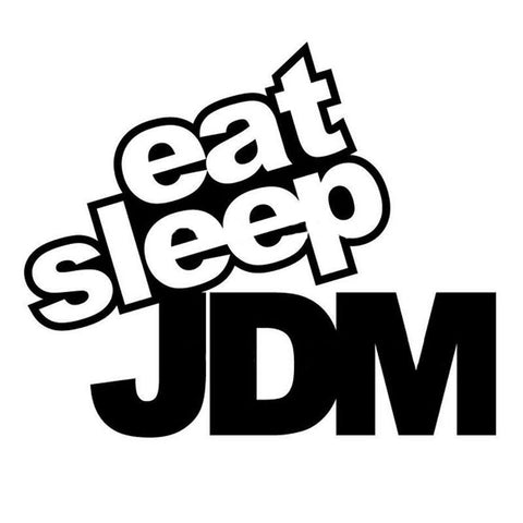 15*12Cm Eat Sleep Jdm Sticker - Stickers