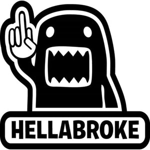16.2Cm*16Cm Hellabroke Decal - Black - Stickers