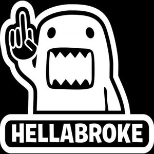 16.2Cm*16Cm Hellabroke Decal - Silver - Stickers