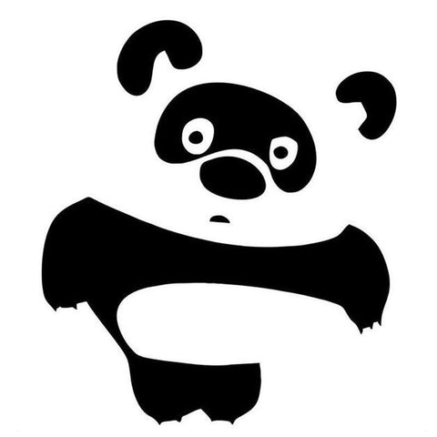 10*11Cm Panda Cartoon Car Sticker Decal - Stickers