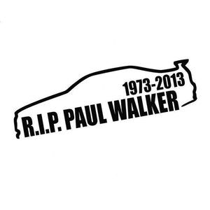 14.3Cm*3.9Cm Paul Walker Rip Vinyl Decal Skyliner34 - Black - Stickers