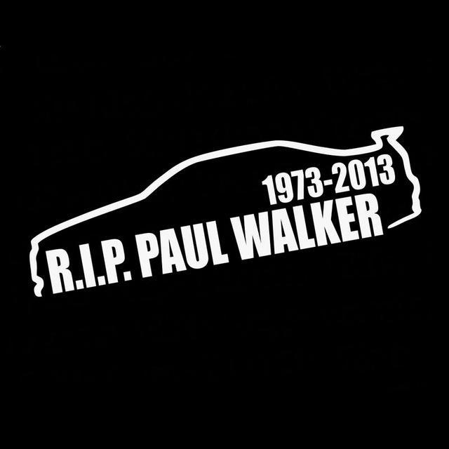 14.3Cm*3.9Cm Paul Walker Rip Vinyl Decal Skyliner34 - Silver - Stickers