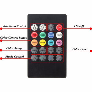 Rgb 4X 36 Led Car Charge 12V 10W Glow Interior Decorativewith Remote Control - Lighting