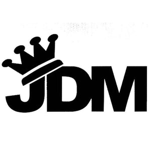 14Cm*7.7Cm Japan Jdm Crown Vinyl Window Decal - Black - Stickers