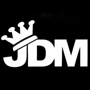 14Cm*7.7Cm Japan Jdm Crown Vinyl Window Decal - Silver - Stickers