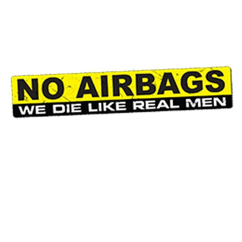 15X3Cm No Airbags Sticker - Stickers