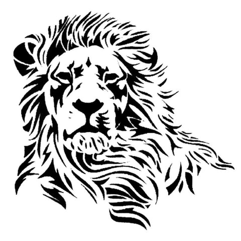 17.2*17Cm Wild Mighty Lion Vinyl Car Sticker - Stickers