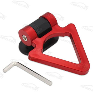 Universal Bumper Tralier Tow Hook - Triangle Red - Exterior