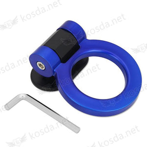 Universal Bumper Tralier Tow Hook - Round Blue - Exterior