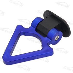 Universal Bumper Tralier Tow Hook - Triangle Blue - Exterior