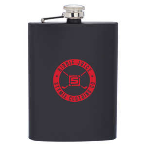 Golf Birdie Juice Hip Flask - 8oz (Black)
