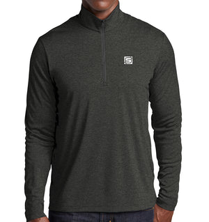 "Stymie ""S"" 1/4 Zip Pullover Lightweight Long Sleeve 