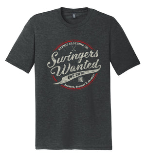 Swingers Wanted V2.0 Golf T-Shirt (Triblend) | Stymie Clothing Company