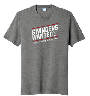 Swingers Wanted Golf T-Shirt Grey | Stymie Clothing Company