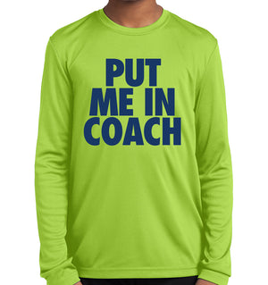 Youth Put Me In Coach Competitor Long Sleeve Shirt | Stymie Clothing Company