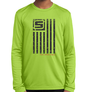 Youth Stymie Nation Flag Competitor Long Sleeve Shirt | Stymie Clothing Company