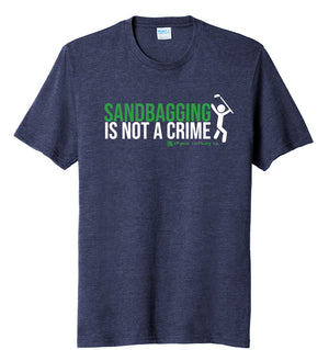 Sandbagging Is Not a Crime Golf T-Shirt (60/40) | Stymie Clothing Company