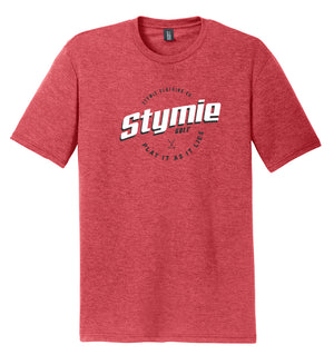 Play It As It Lies Golf T-Shirt Red | Stymie Clothing Company