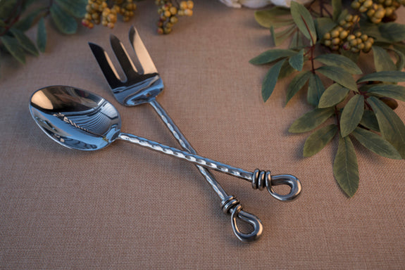 Twisted Vine- 2 Piece Large Serving Spoon & Fork