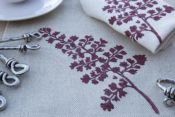Fern Print Runner & Napkin Set