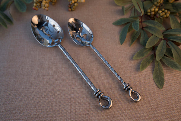 Twisted Vine- Pierced Large Serving Spoon