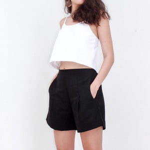 CRESCENT crop top | white