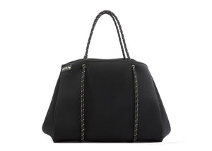 Stylish Black neoprene tote bags - fitness
