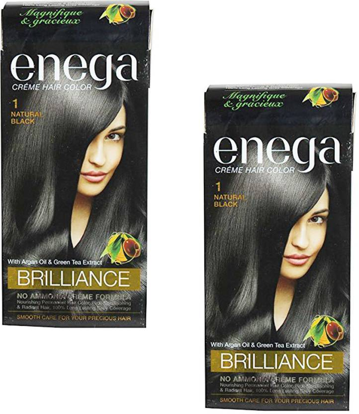Enega 1 Natural Black Creme (Pack of 2)  Hair Color (1 Natural Black)