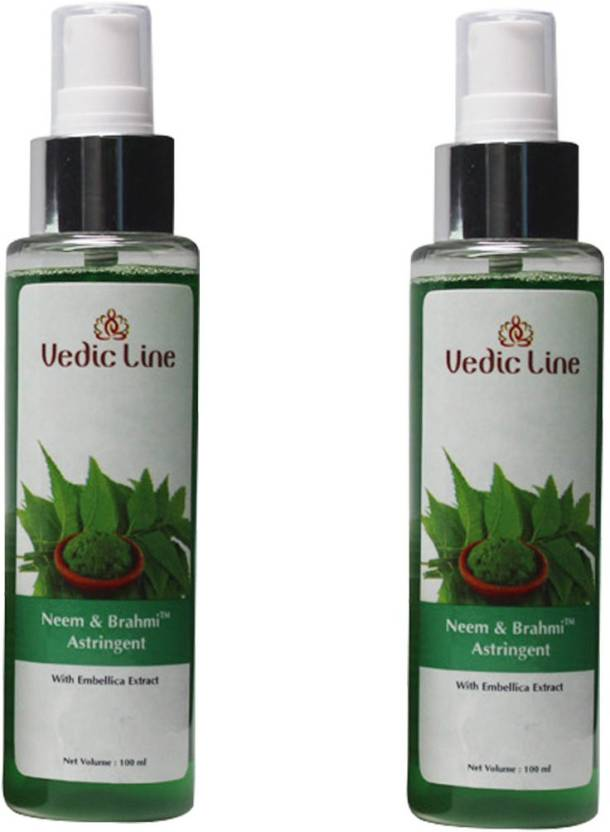 Vedic Line Neem and Brahmi Astringent with Embellica Extract Pack of 2 (100 ml)