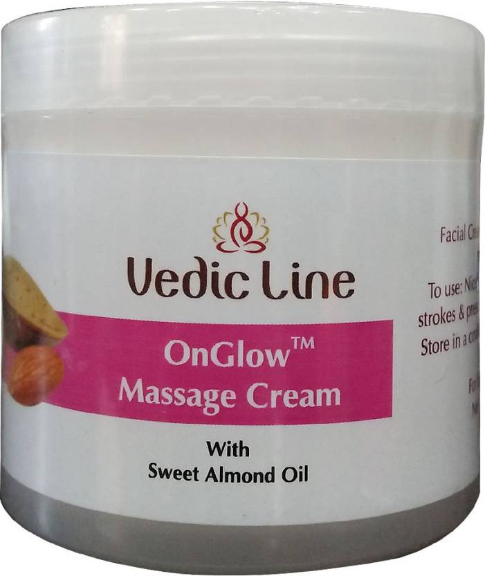 Vedic Line On Glow Massage Cream with Sweet Almond Oil (100 ml)