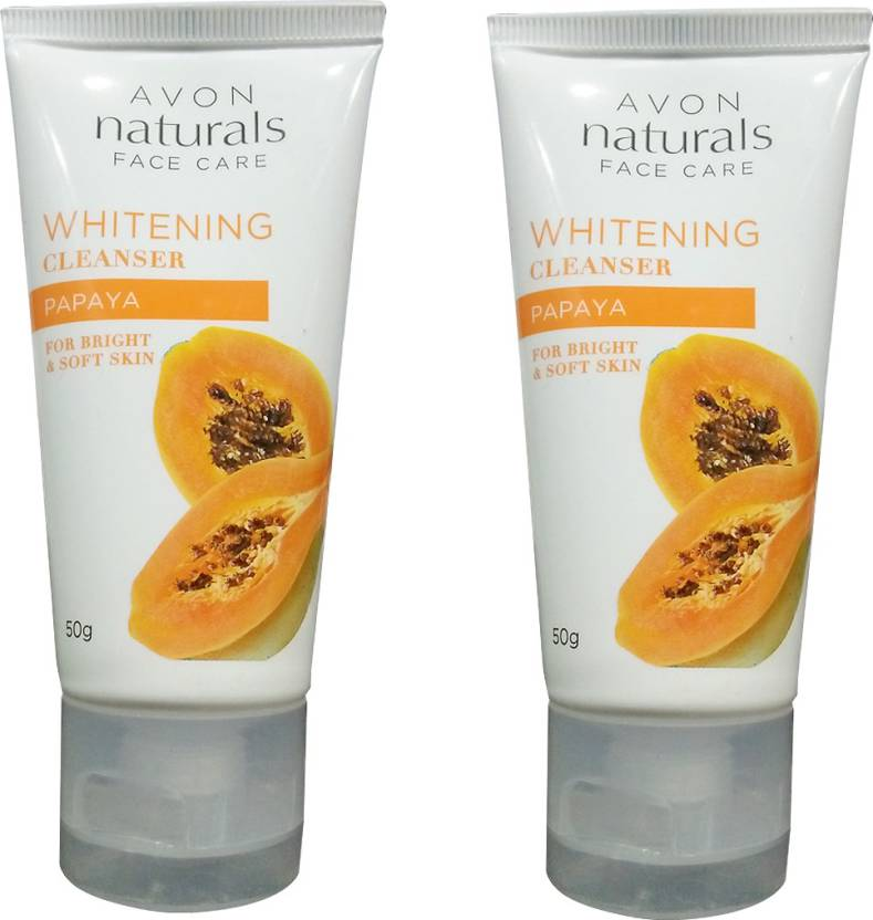 Avon Whitening Papaya Cleanser Pack of 2 (100 g)