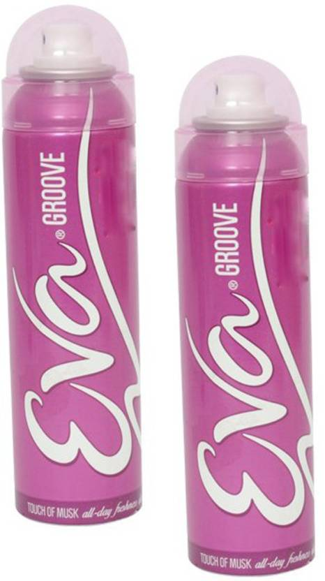 Eva Groove Touch of Musk (Pack of 2) Deodorant Spray  -  For Women (125 ml, Pack of 2)